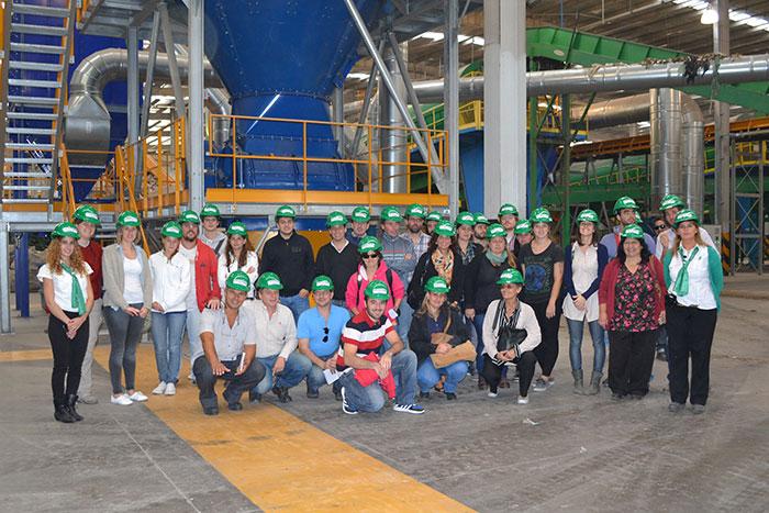Alumnos de la Universidad de La Plata visitaron el Complejo Norte III